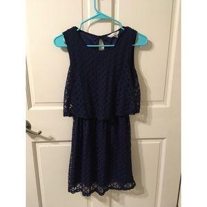Navy Texture Dress